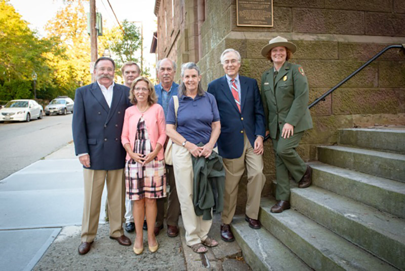Dignitaries-and-La-Farge-descendants-with-new-National-Historic-Landmark-plaque